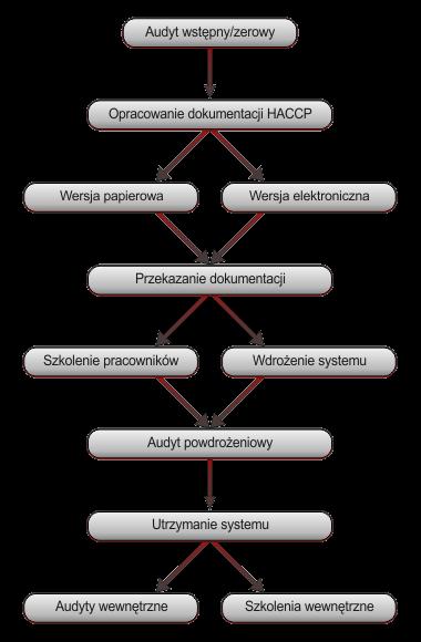 Schemat wdrożenia HACCP